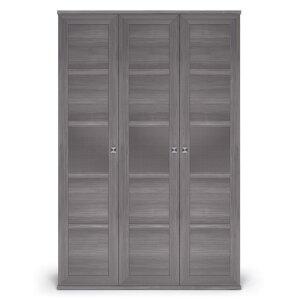 Шкаф 3-х дверный с глухими фасадами Парма Нео Лиственница темная
