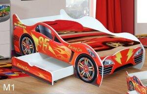 Кровать Машинка с матрасом