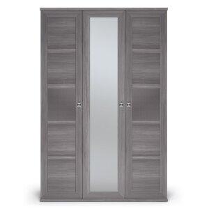 Шкаф 3-х дверный с одним зеркалом Парма Нео Лиственница темная