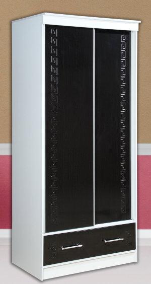 Шкаф-купе с ящиком МДФ (направляющие Альянс) 1,0