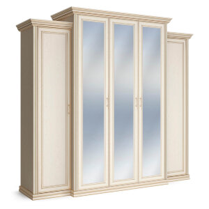 Шкаф 5-ти дверный с тремя зеркалами Венето