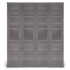 Шкаф 4-х дверный с глухими фасадами Парма Нео Лиственница темная