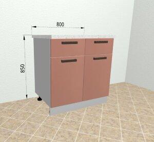 Шкаф нижний 2 ящика С2Я 800 Ройс