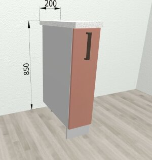 Шкаф нижний бутылочница СБ200 Ройс
