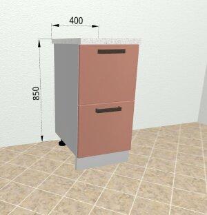 Шкаф нижний комод 2 ящика СК2 400 Ройс