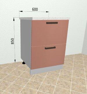 Шкаф нижний комод 2 ящика СК2 600 Ройс