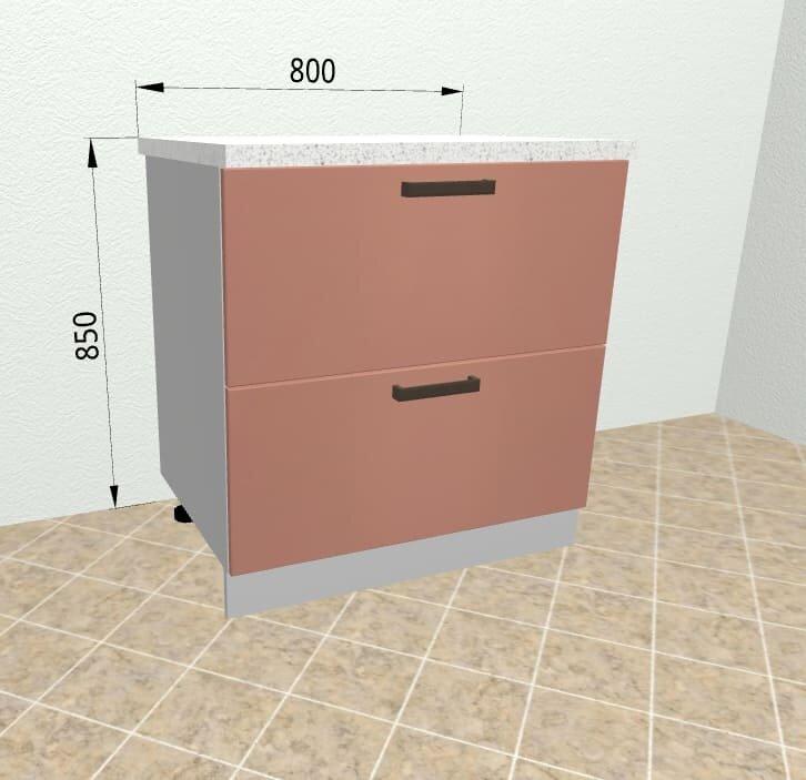 Шкаф нижний комод 2 ящика СК2 800 Ройс