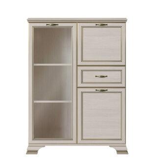 Шкаф низкий (1 стеклодверь) Сиена
