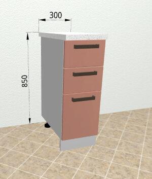 Шкаф нижний с ящиками СЯ 300 Ройс