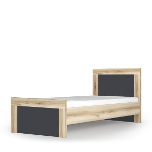 Кровать с орт основанием 900 Вега Скандинавия дуб каньон / антрацит