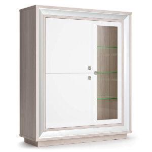Шкаф 3-х дверный (1 стеклодверь) 1179 низкий Прато