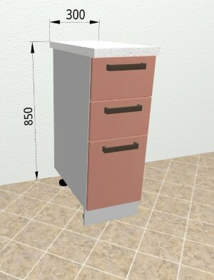 Шкаф нижний с ящиками с метабоксами СМЯ300 Ройс