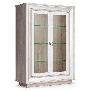 Шкаф 2-х дверный (2 стеклодвери) 998 низкий Прато