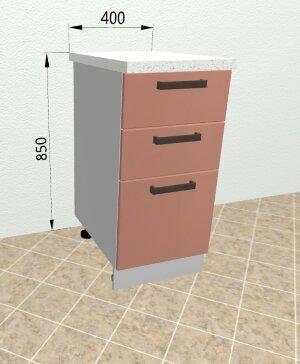 Шкаф нижний с ящиками с метабоксами СМЯ400 Ройс