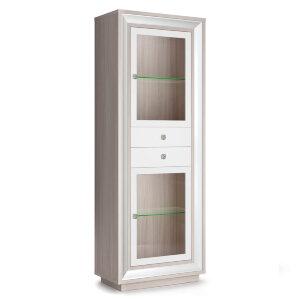 Шкаф 776 (2 стеклодвери, 2 ящика) Прато