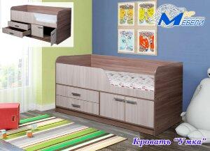Кровать с ящиками с матрасом Умка