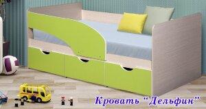 Кровать с ящиками с матрасом Дельфин ЛДСП