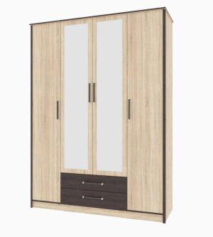Шкаф 4-х дверный Лирика