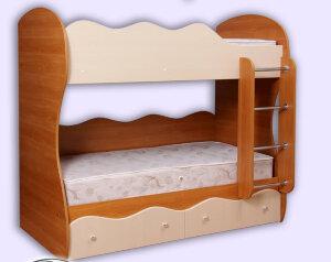Кровать двухъярусная Пифагор с матрасами