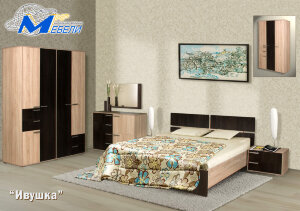 Спальный гарнитур Ивушка с 4-х створчатым шкафом