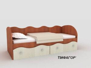 Кровать с ящиками Пифагор с матрасом