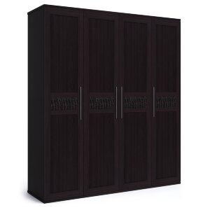 Шкаф 4-х дверный с глухими фасадами Парма венге