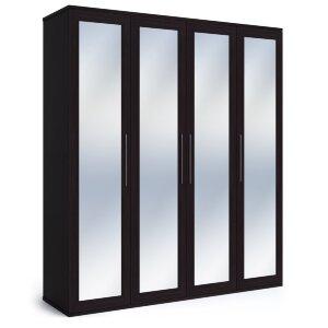 Шкаф 4-х дверный с зеркалами Парма венге