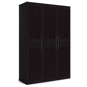 Шкаф 3-х дверный с глухими фасадами Парма венге