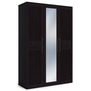 Шкаф 3-х дверный с одним зеркалом Парма венге