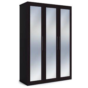 Шкаф 3-х дверный с зеркалами Парма венге
