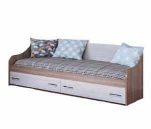 """Кровать одинарная с ящиками """"Город"""""""