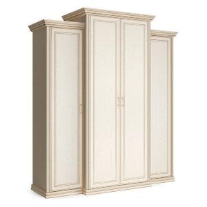 Шкаф 4-х дверный с пеналами с глухими фасадами Венето