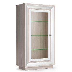 Шкаф (1 стеклодверь) 776 низкий Прато
