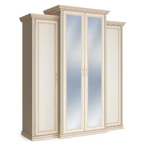 Шкаф 4-х дверный с пеналами с зеркалом Венето