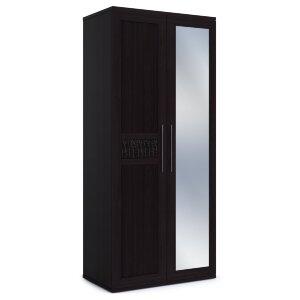 Шкаф 2-х дверный с одним зеркалом Парма венге