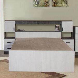 Кровать с прикроватным блоком Бася-2 с матрасом