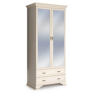 Шкаф 2-х дверный с зеркалом Сиена