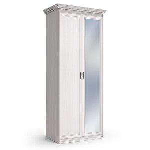 Шкаф 2-х дверный с одним зеркалом Неаполь ясень анкор светлый
