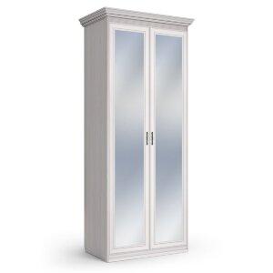 Шкаф 2-х дверный с зеркалами Неаполь ясень анкор светлый