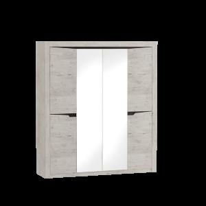 Шкаф 4-х дверный Соренто Дуб бонифаций