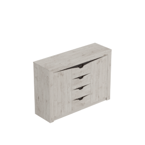 Тумба с 4-мя ящиками и двумя дверцами Соренто Дуб бонифаций
