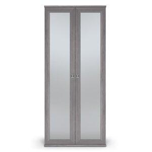 Шкаф 2-х дверный с зеркалами Парма Нео Лиственница темная